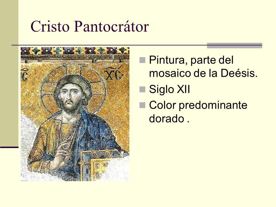 Cristo Pantocrátor Pintura, parte del mosaico de la Deésis. Siglo XII