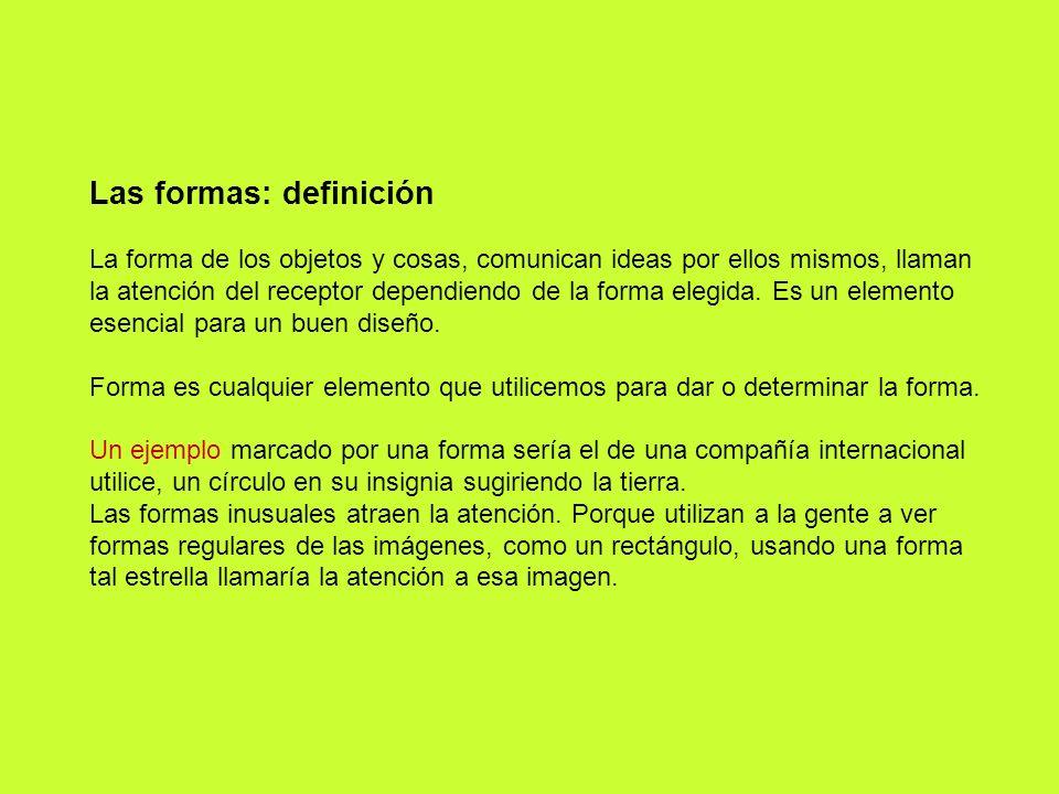 Las formas: definición