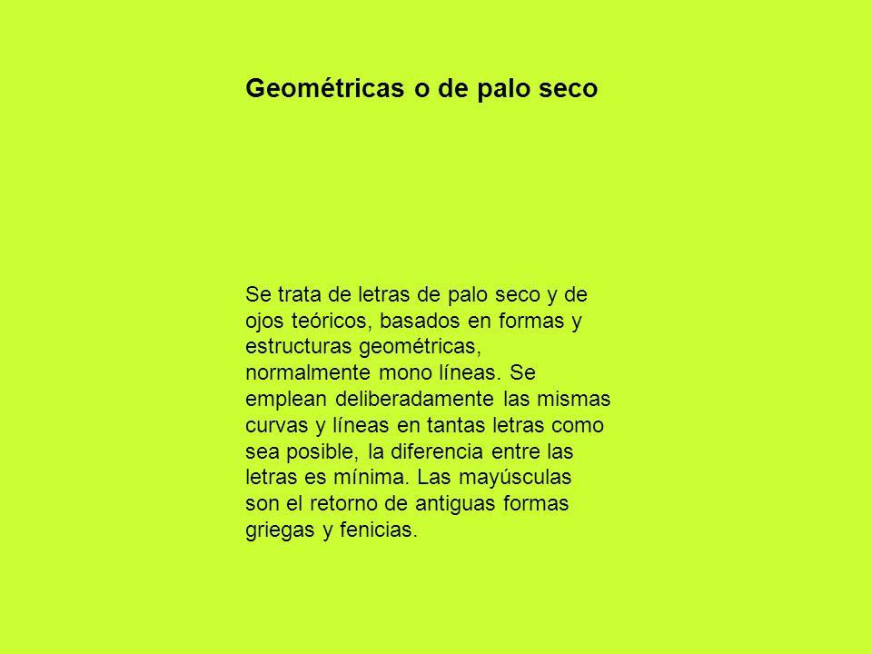 Geométricas o de palo seco
