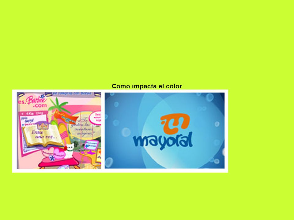 Como impacta el color