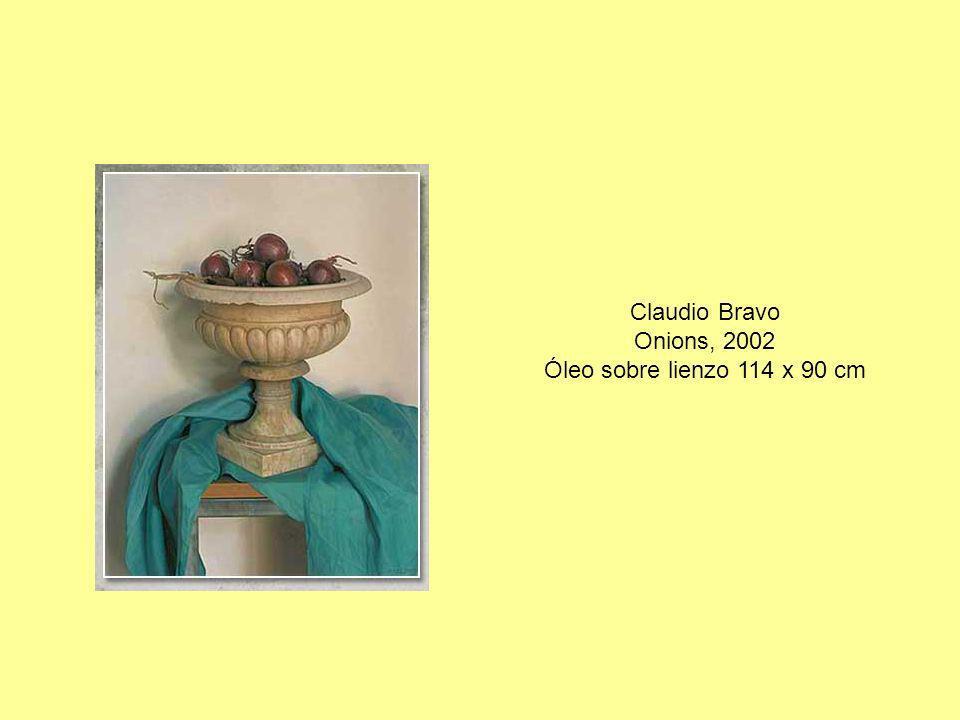 Claudio Bravo Onions, 2002 Óleo sobre lienzo 114 x 90 cm