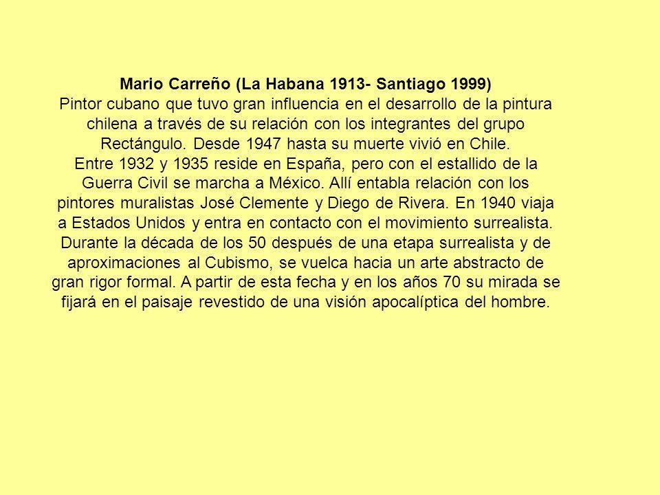 Mario Carreño (La Habana 1913- Santiago 1999)