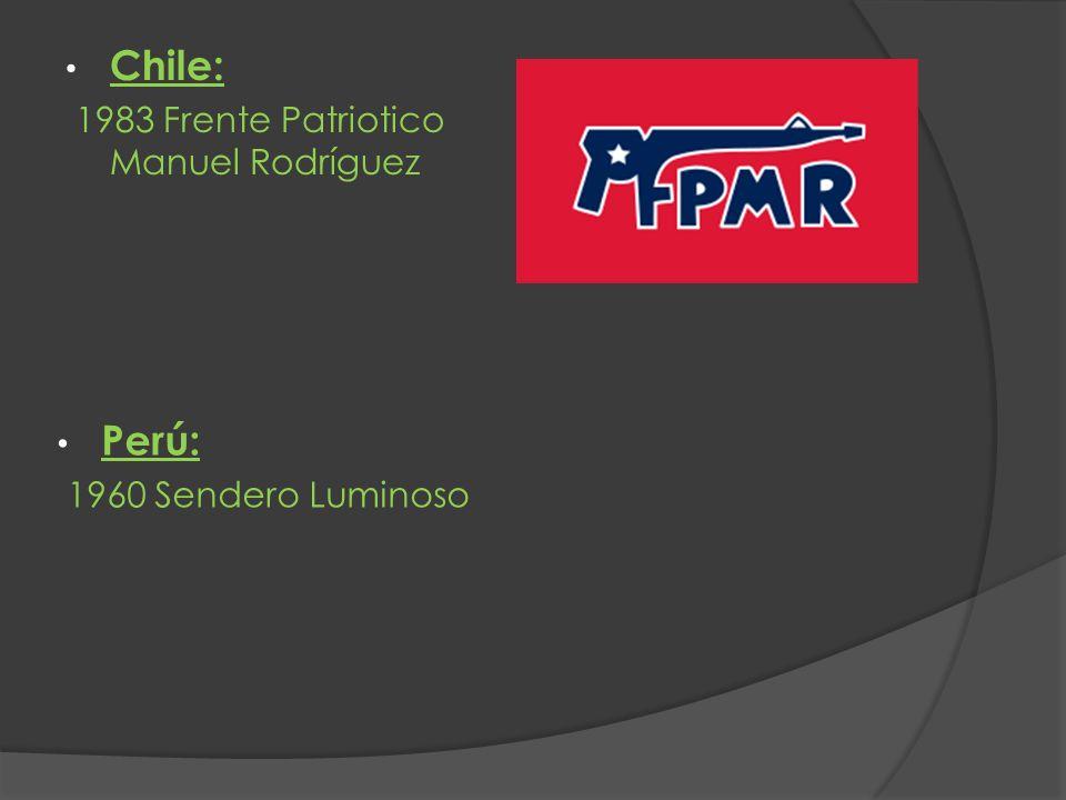 Chile: Perú: 1983 Frente Patriotico Manuel Rodríguez