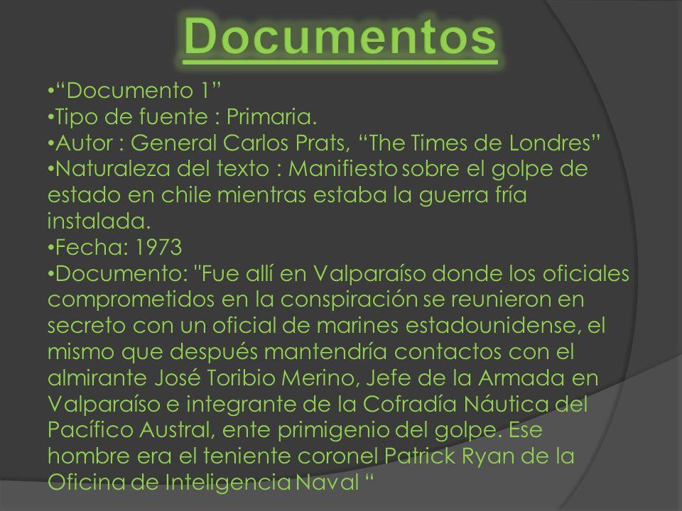 Documentos Documento 1 Tipo de fuente : Primaria.