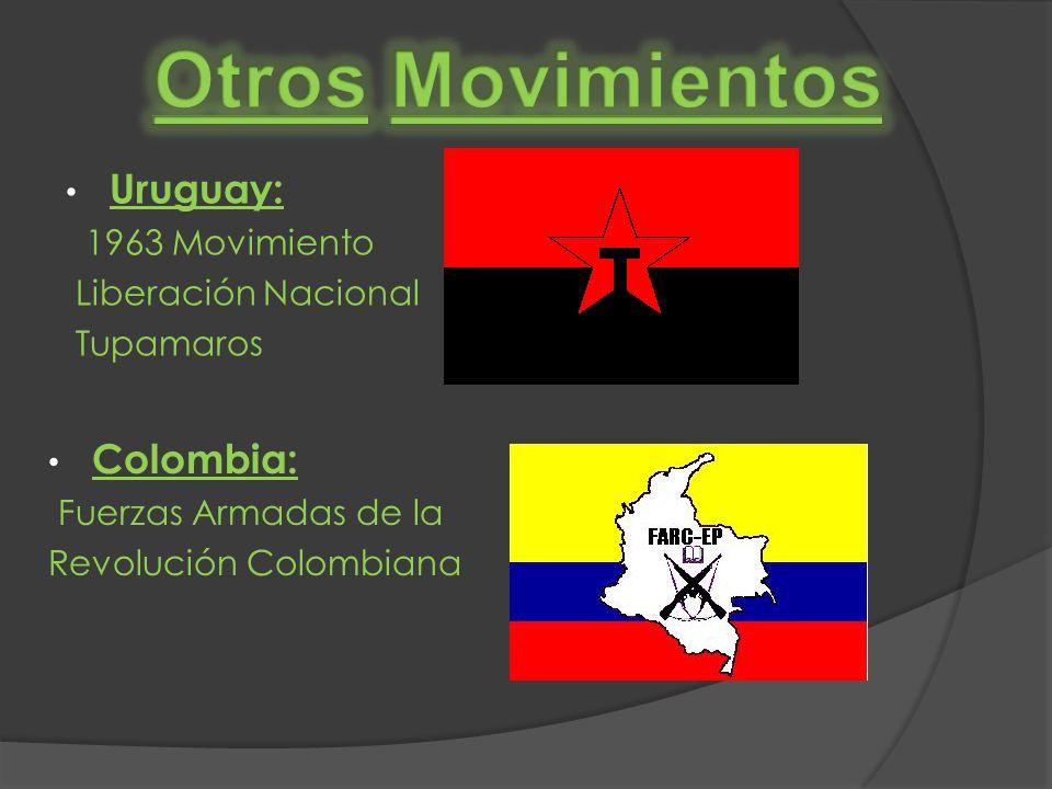 Otros Movimientos Uruguay: Colombia: 1963 Movimiento