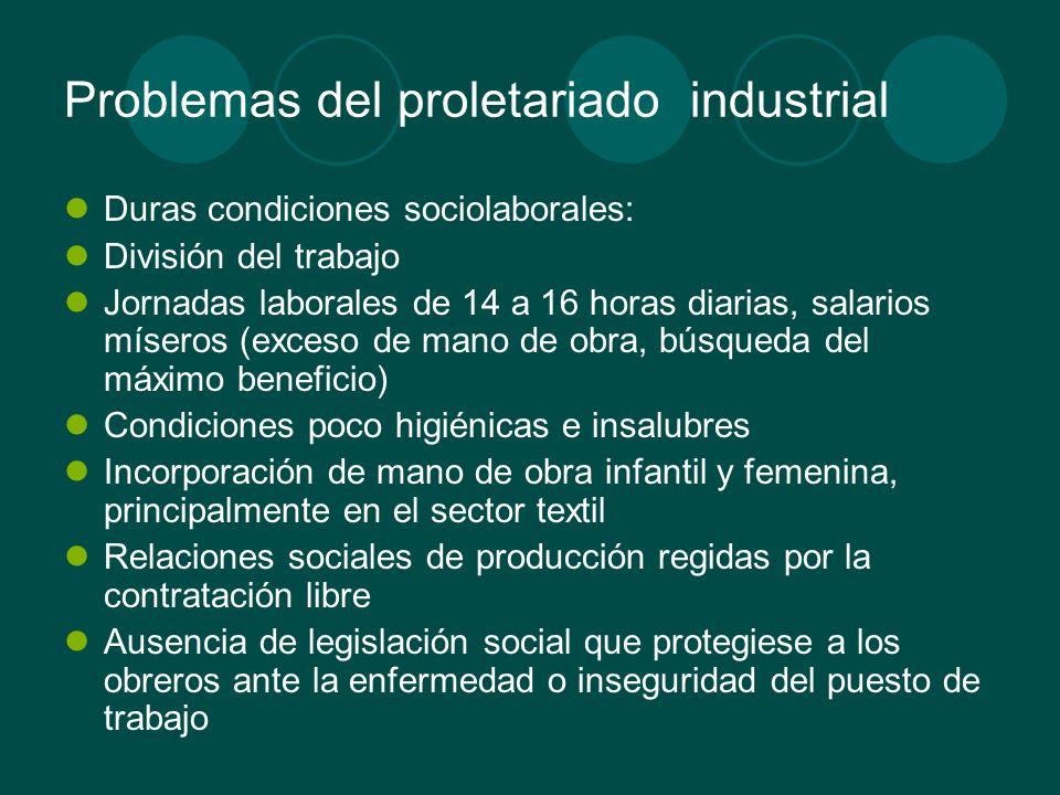 Problemas del proletariado industrial