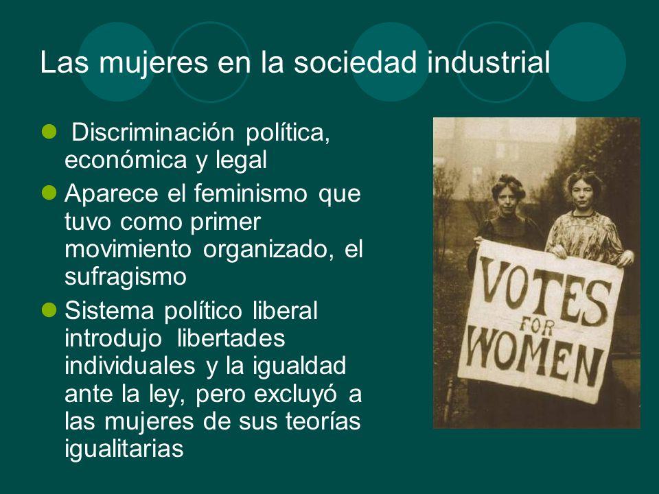 Las mujeres en la sociedad industrial