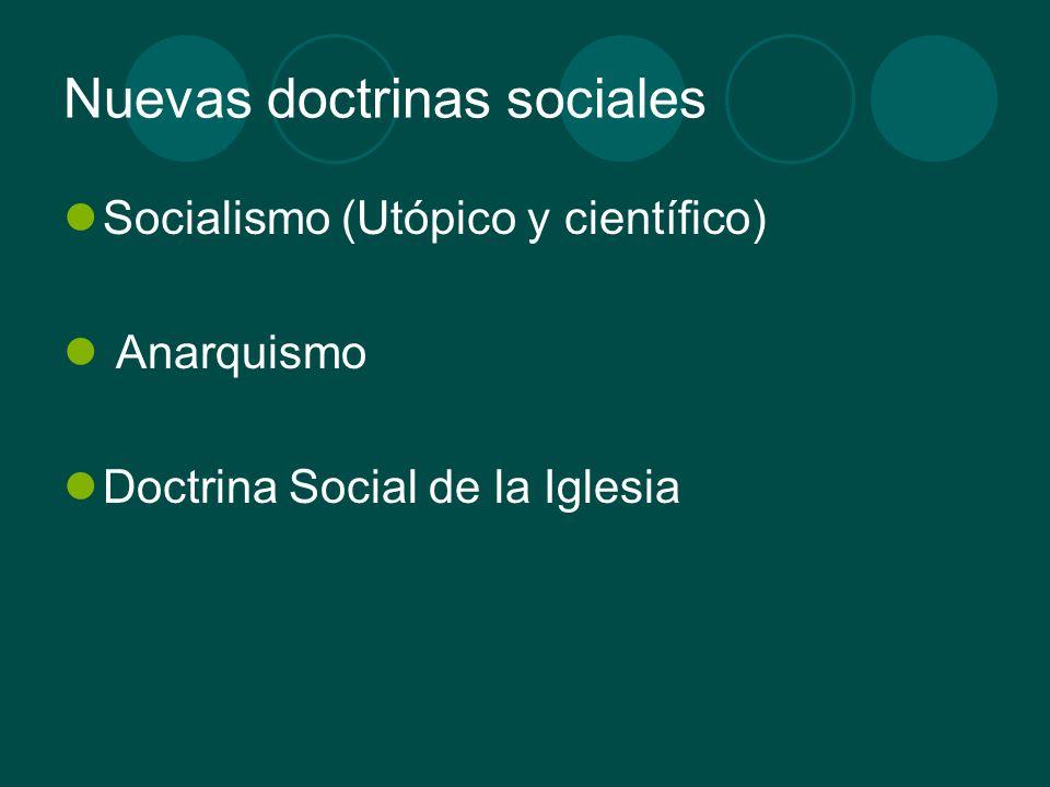 Nuevas doctrinas sociales