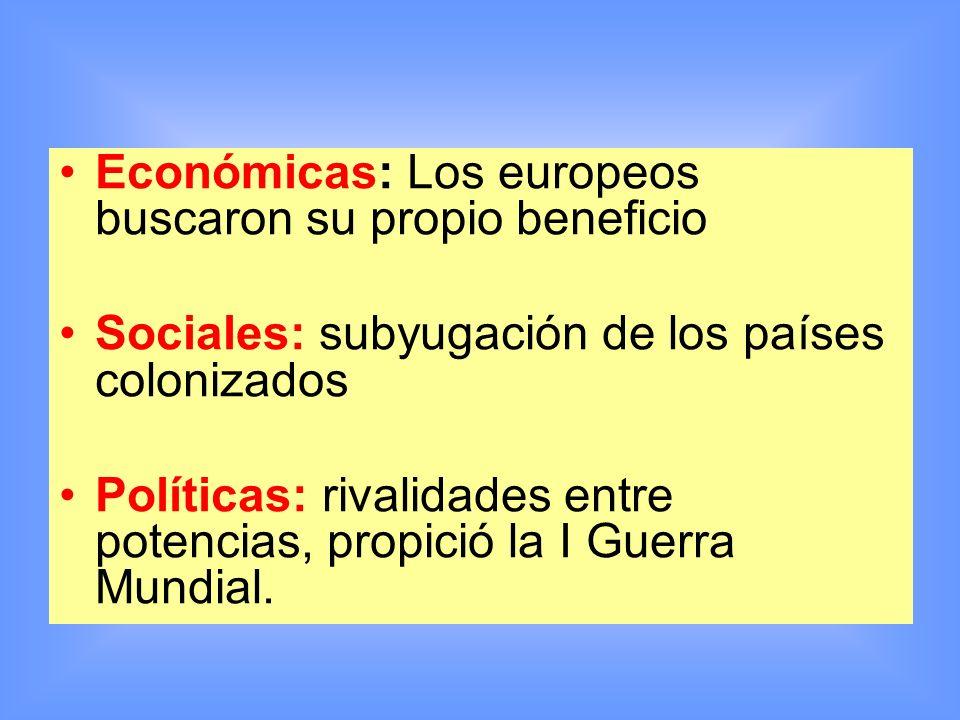 Económicas: Los europeos buscaron su propio beneficio