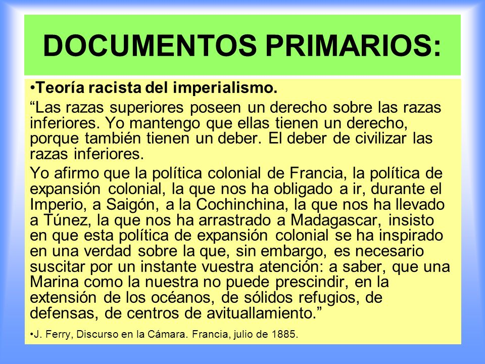 DOCUMENTOS PRIMARIOS: