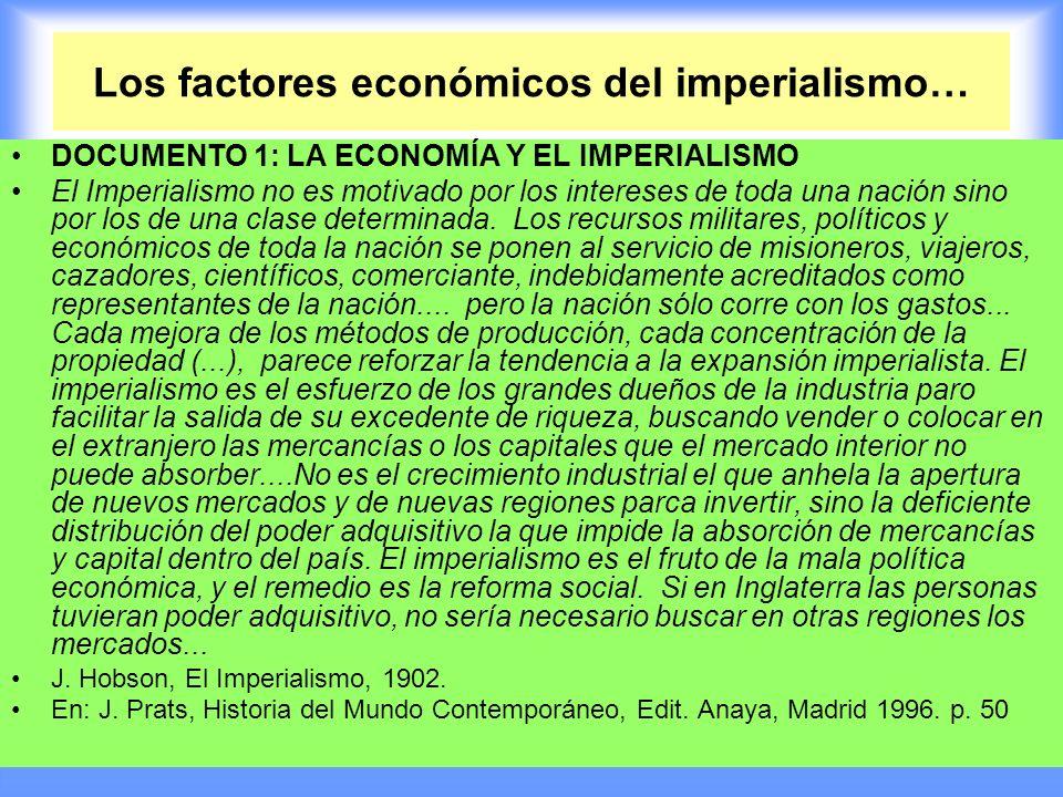 Los factores económicos del imperialismo…