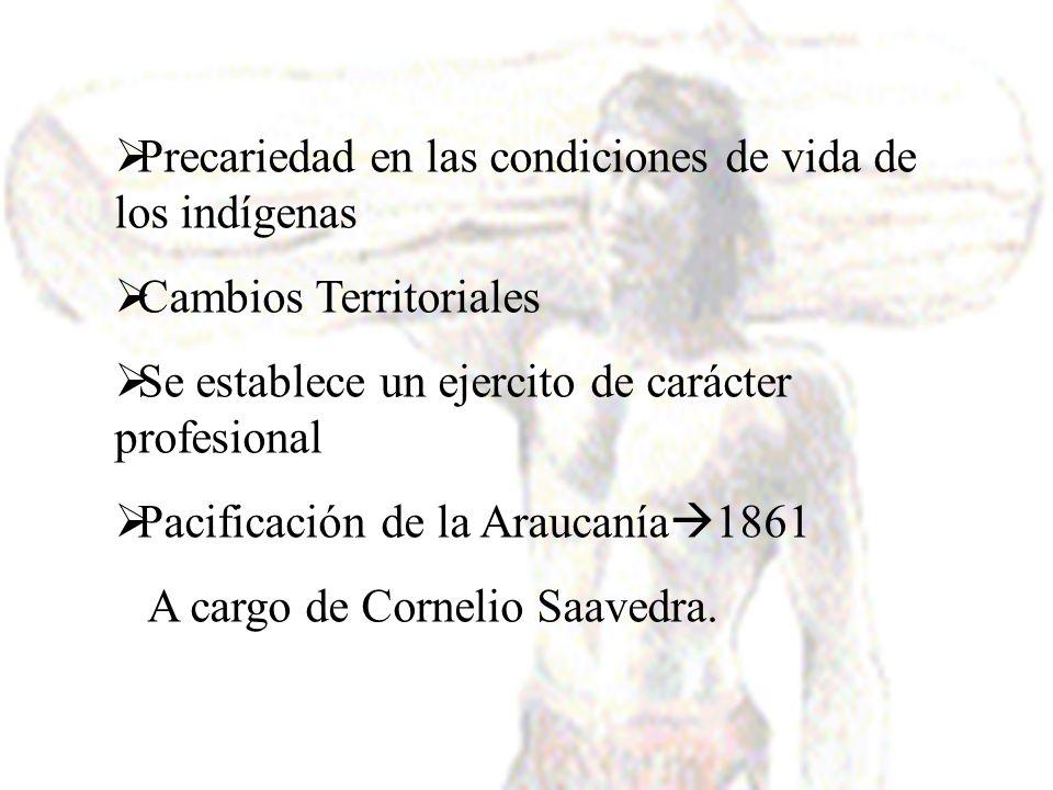 Precariedad en las condiciones de vida de los indígenas
