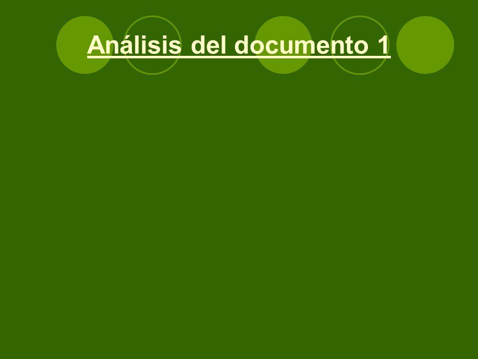 Análisis del documento 1