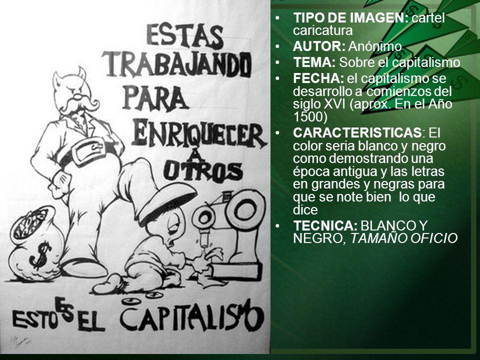 TIPO DE IMAGEN: cartel caricatura