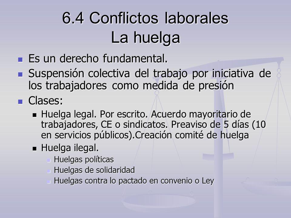 6.4 Conflictos laborales La huelga