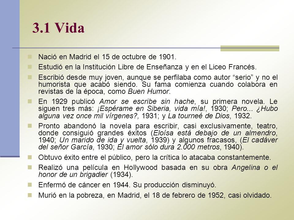 3.1 Vida Nació en Madrid el 15 de octubre de 1901.