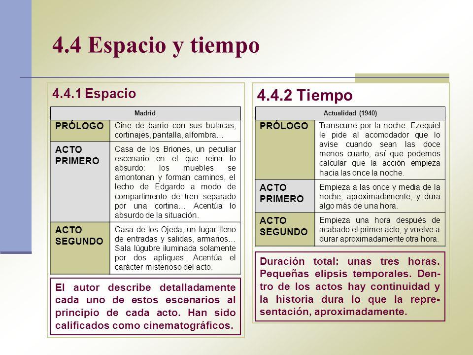 4.4 Espacio y tiempo 4.4.2 Tiempo 4.4.1 Espacio