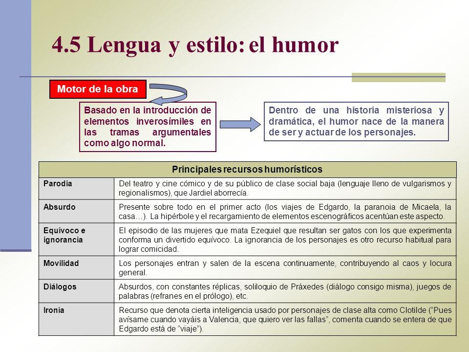 4.5 Lengua y estilo: el humor