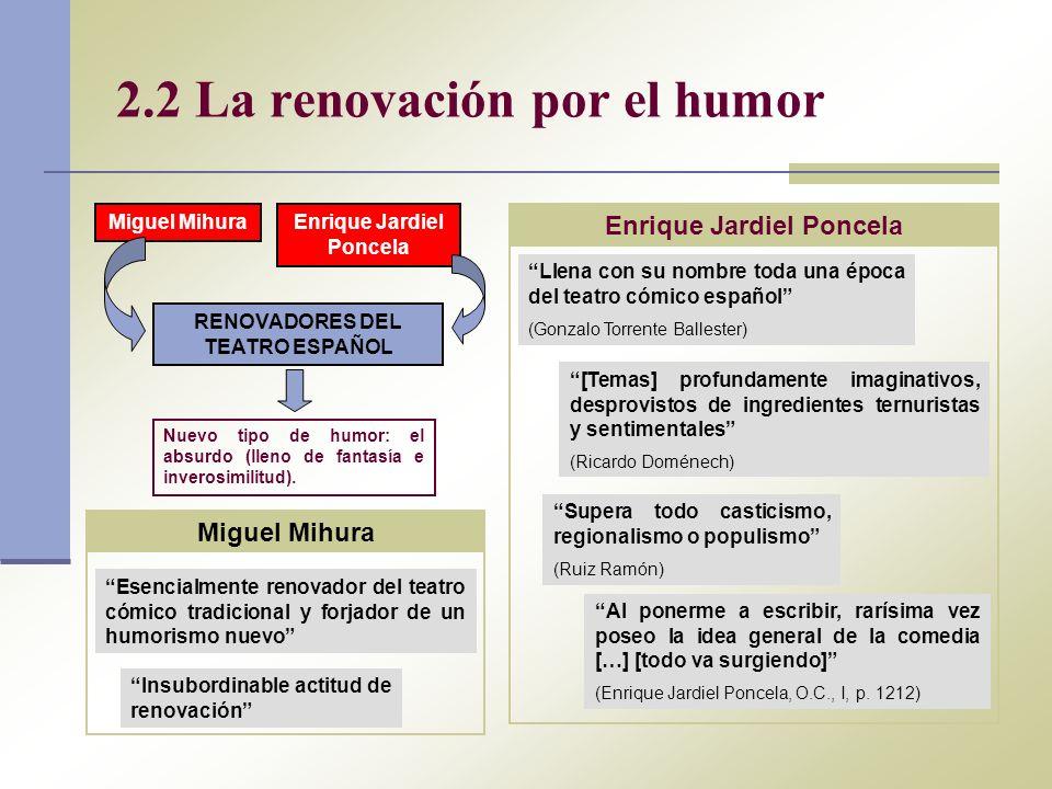 2.2 La renovación por el humor