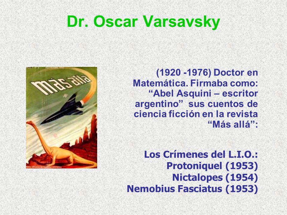 Dr. Oscar Varsavsky