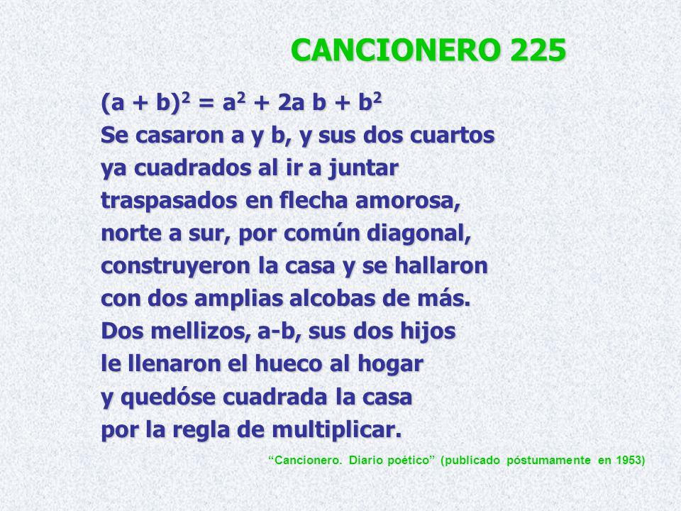 CANCIONERO 225 (a + b)2 = a2 + 2a b + b2