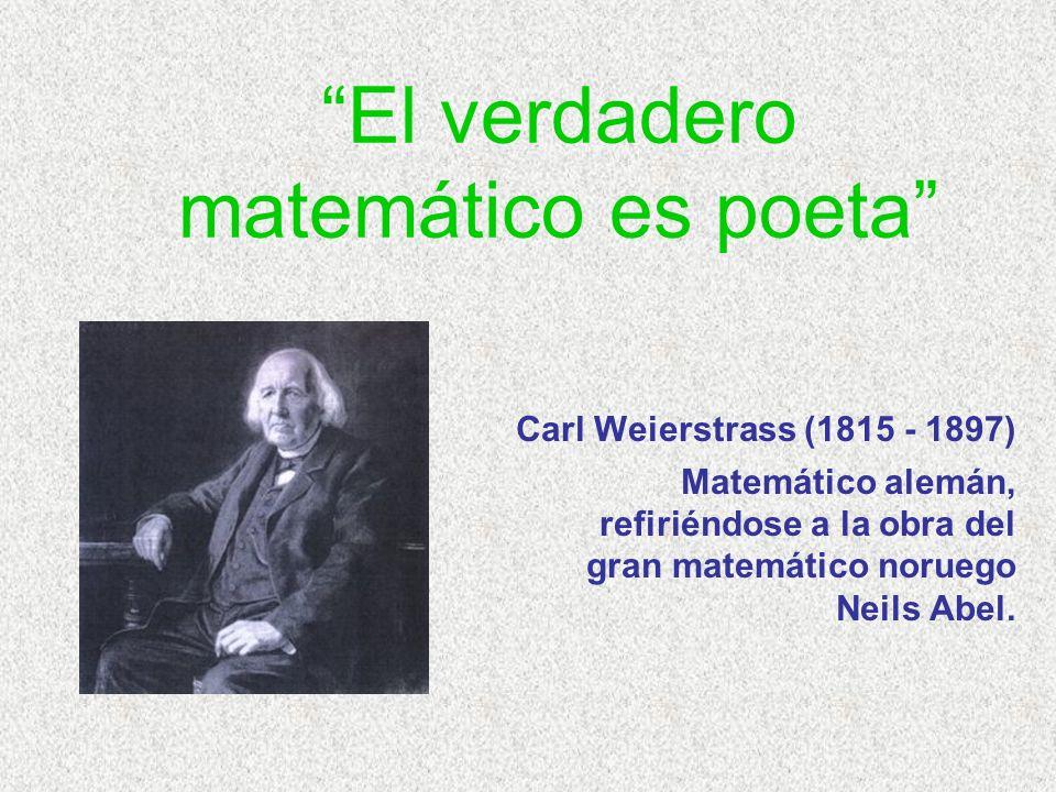 El verdadero matemático es poeta