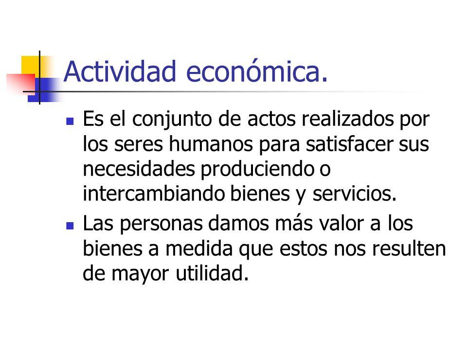 Actividad económica.