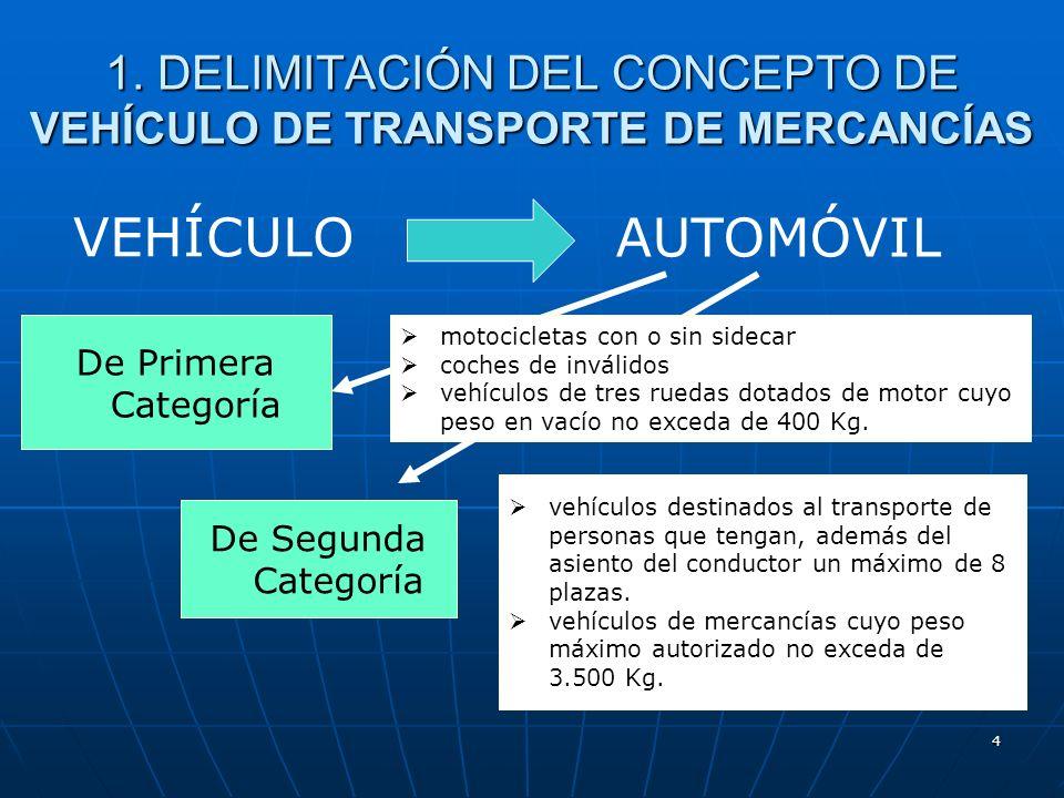 1. DELIMITACIÓN DEL CONCEPTO DE VEHÍCULO DE TRANSPORTE DE MERCANCÍAS