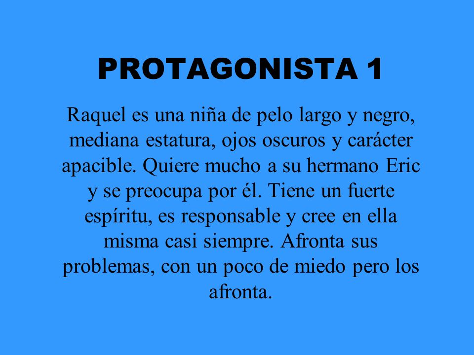 PROTAGONISTA 1