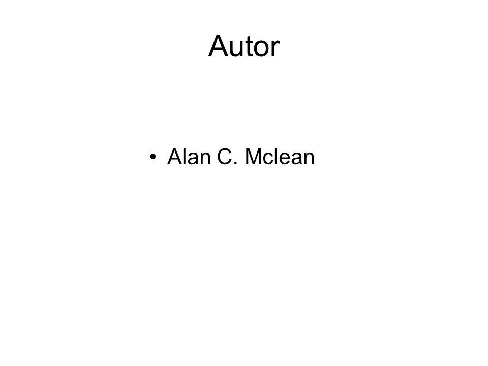 Autor Alan C. Mclean