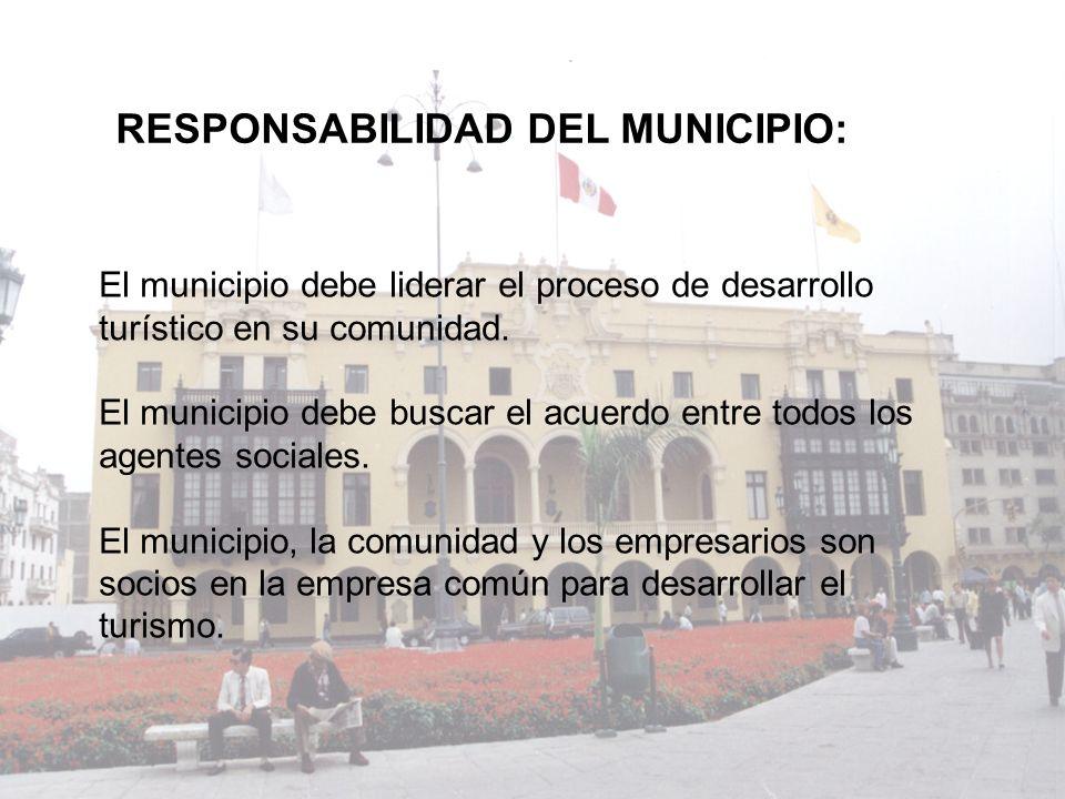 RESPONSABILIDAD DEL MUNICIPIO: