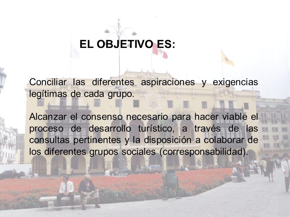 EL OBJETIVO ES: Conciliar las diferentes aspiraciones y exigencias legítimas de cada grupo.