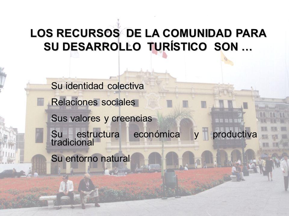 LOS RECURSOS DE LA COMUNIDAD PARA SU DESARROLLO TURÍSTICO SON …