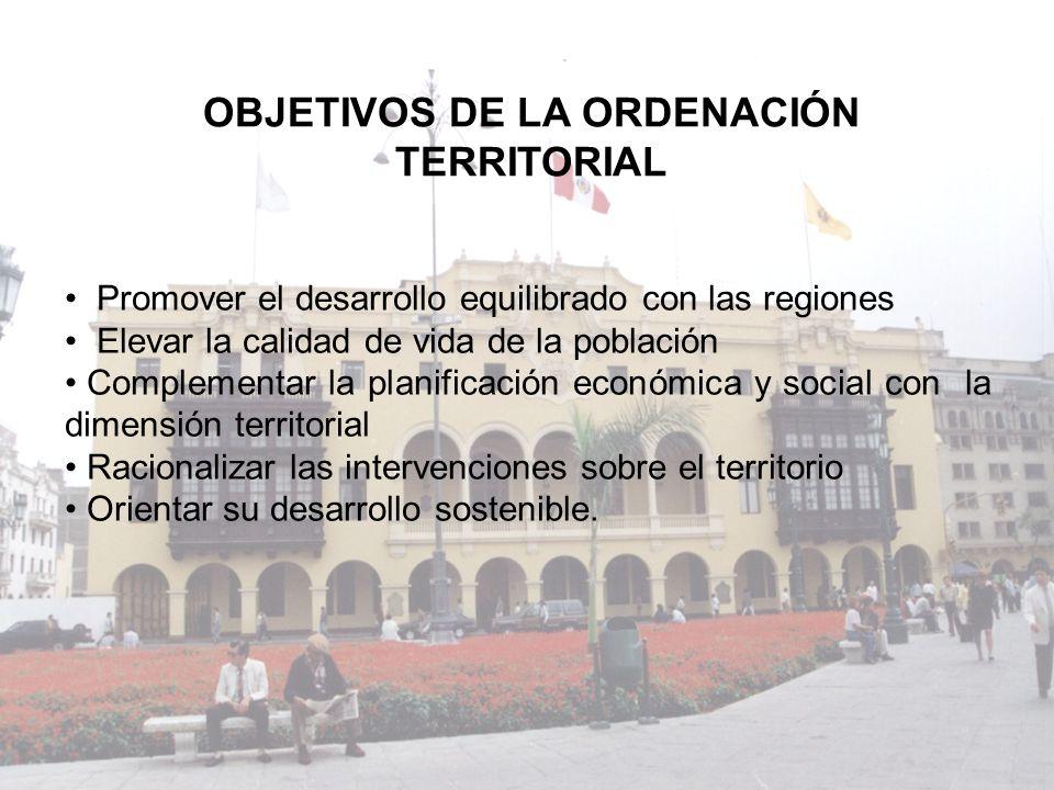 OBJETIVOS DE LA ORDENACIÓN TERRITORIAL