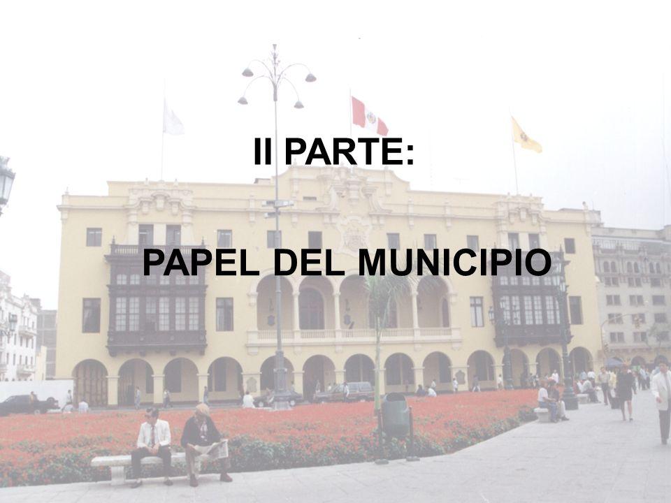 II PARTE: PAPEL DEL MUNICIPIO