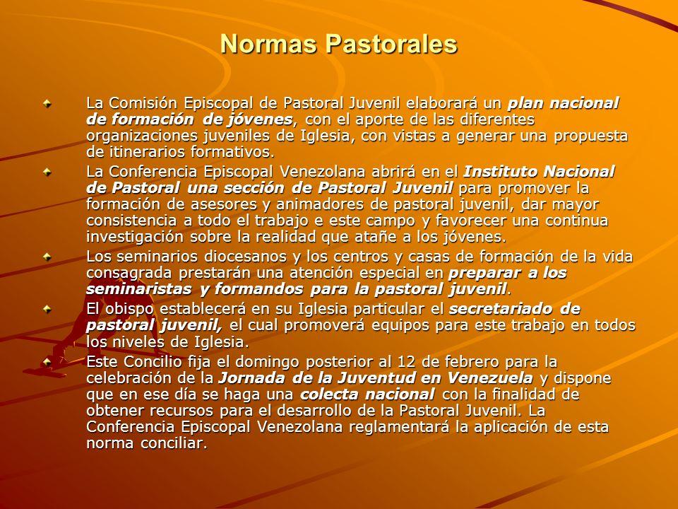 Normas Pastorales