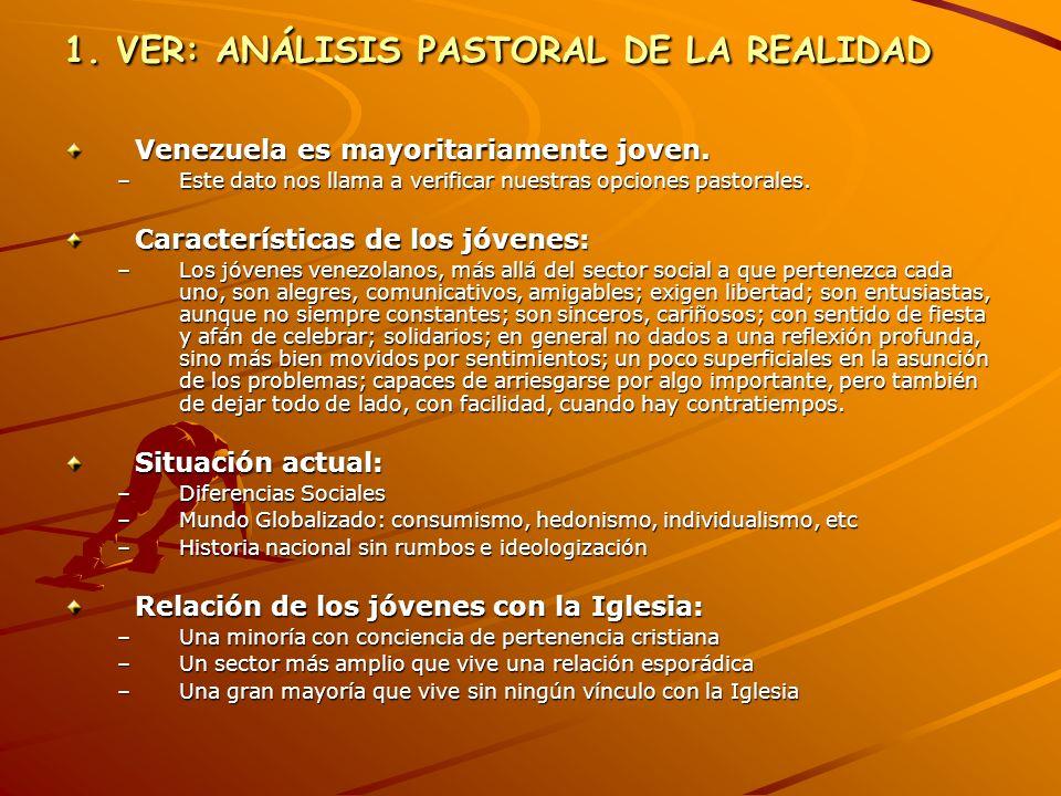 1. VER: ANÁLISIS PASTORAL DE LA REALIDAD