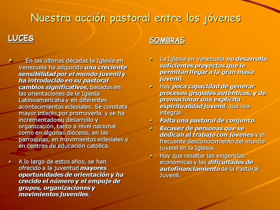 Nuestra acción pastoral entre los jóvenes