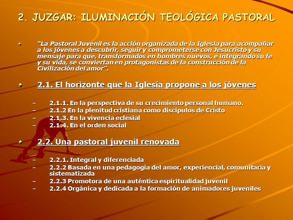 2. JUZGAR: ILUMINACIÓN TEOLÓGICA PASTORAL