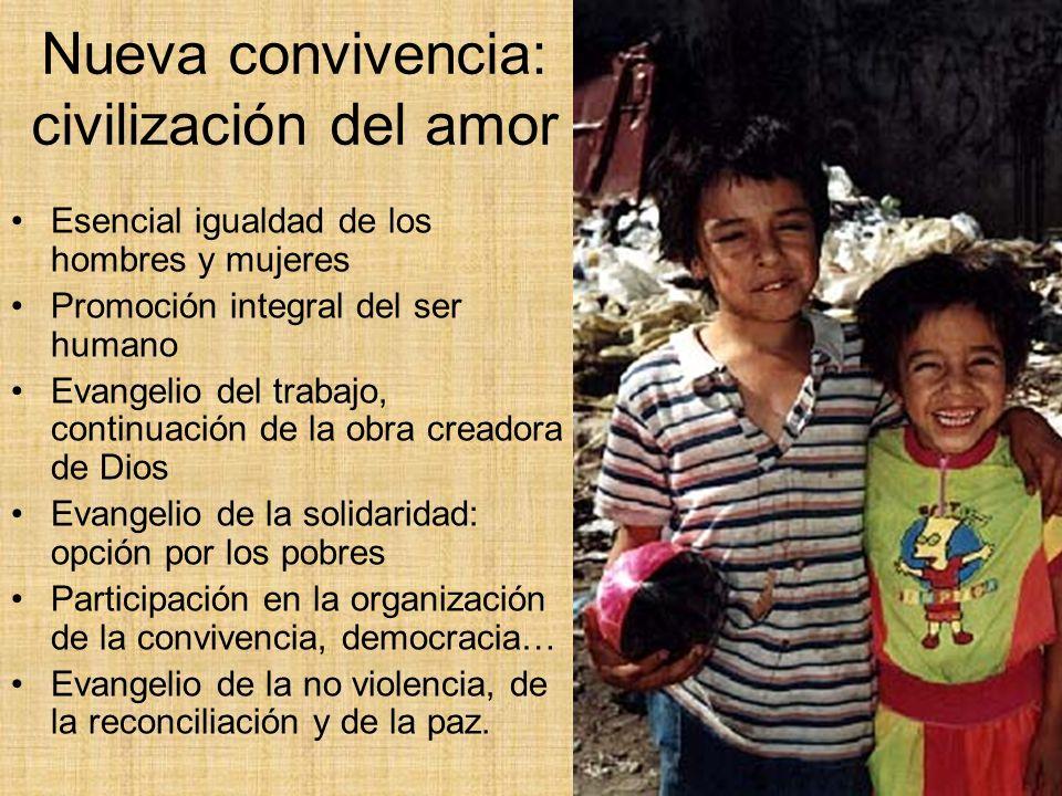 Nueva convivencia: civilización del amor