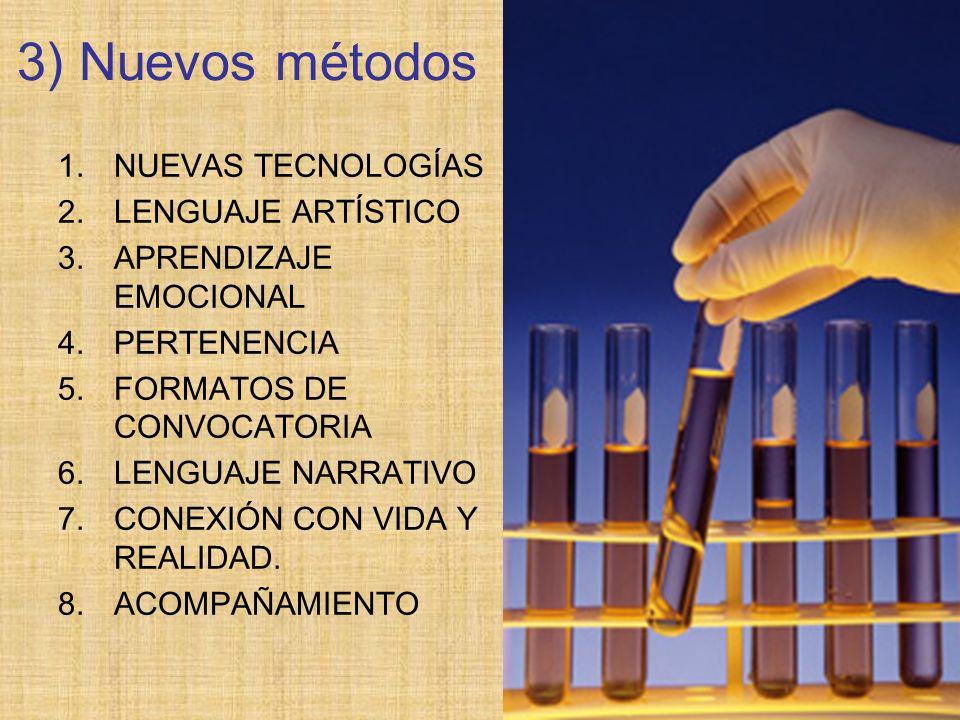3) Nuevos métodos NUEVAS TECNOLOGÍAS LENGUAJE ARTÍSTICO