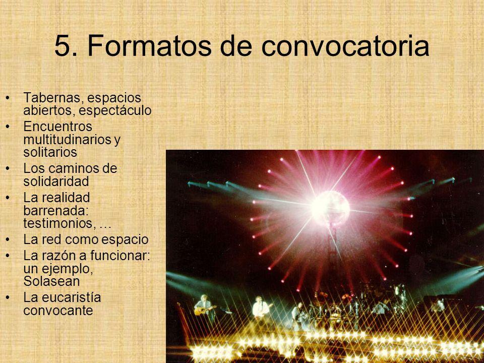 5. Formatos de convocatoria