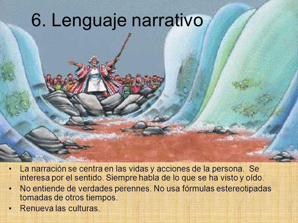 6. Lenguaje narrativo