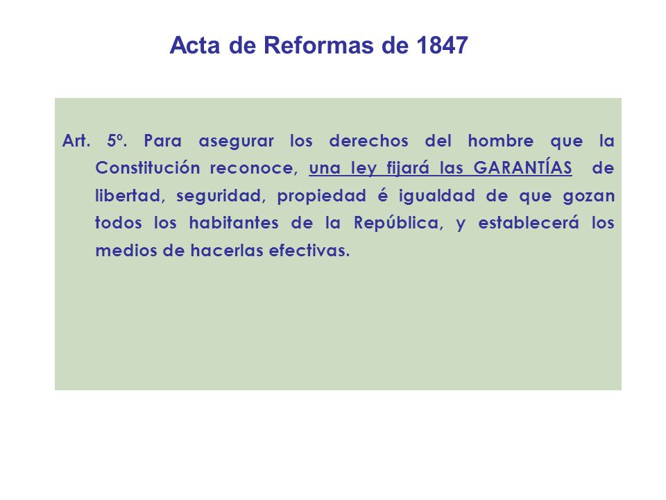 Acta de Reformas de 1847
