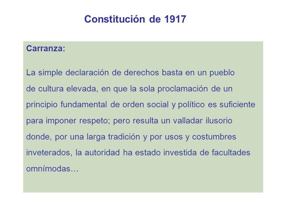 Constitución de 1917 Carranza: