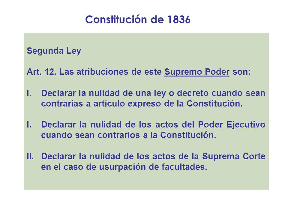 Constitución de 1836 Segunda Ley
