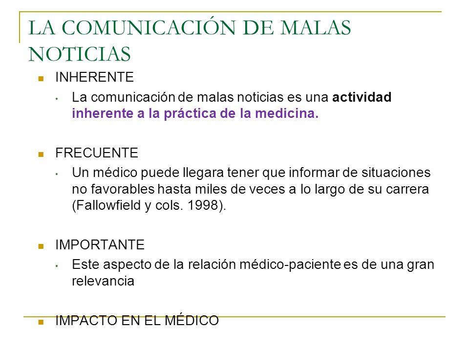LA COMUNICACIÓN DE MALAS NOTICIAS