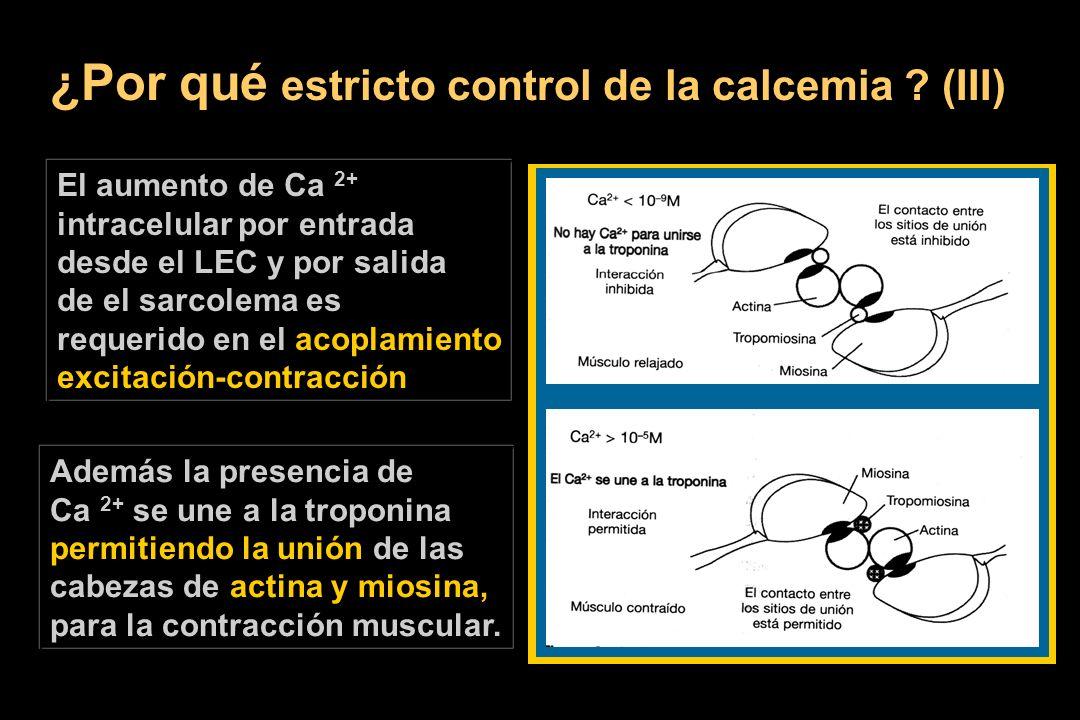 ¿Por qué estricto control de la calcemia (III)