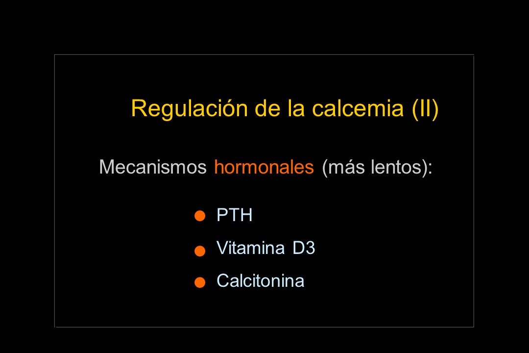Regulación de la calcemia (II)
