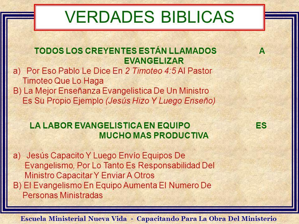 VERDADES BIBLICAS TODOS LOS CREYENTES ESTÁN LLAMADOS A EVANGELIZAR